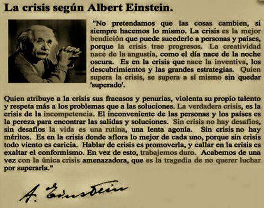 La crsis segun Albert Einstein