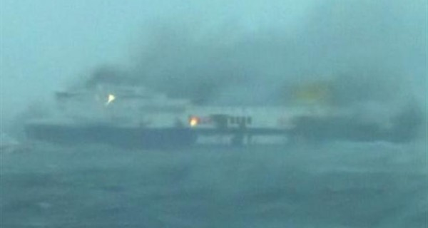 "Se incendia barco italiano ""Norman Atlantic"" con 478 personas a bordo"