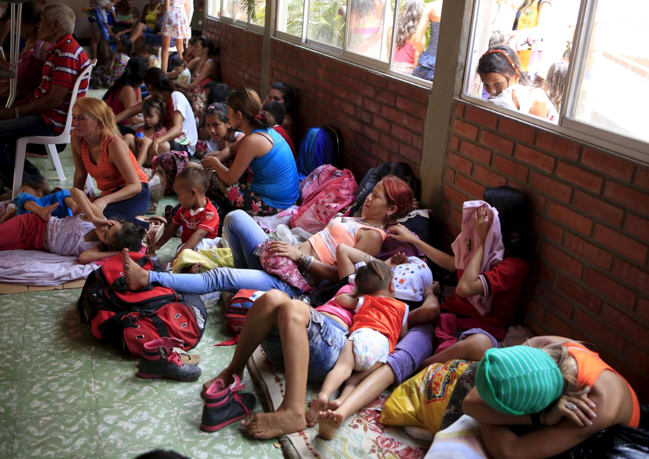 Colombians who were deported are seen in a shelter close to Cucuta city, near the border with Venezuela