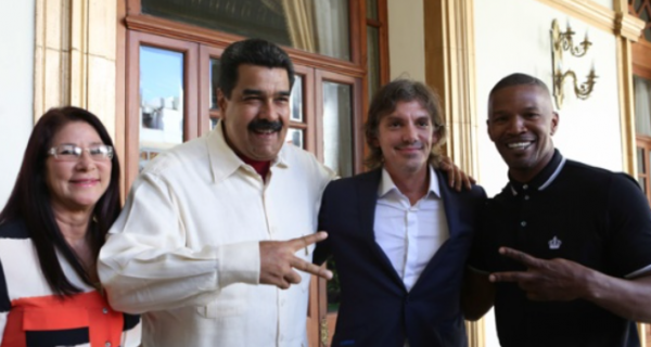 ¡HORROR Y REPUDIO INTERNACIONAL! Human Rights Foundation se pronuncia ante visita de Jamie Foxx y Lukas Haas a Maduro