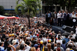 Juan Guaido, President of the Venezuelan National Assembly and lawmaker of the opposition party Popular Will (Voluntad Popular), speaks during a gathering in Caracas