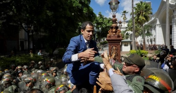 [VIDEO] EN VIVO: Guaidó y diputados llegan al Palacio Legislativo #7Enero